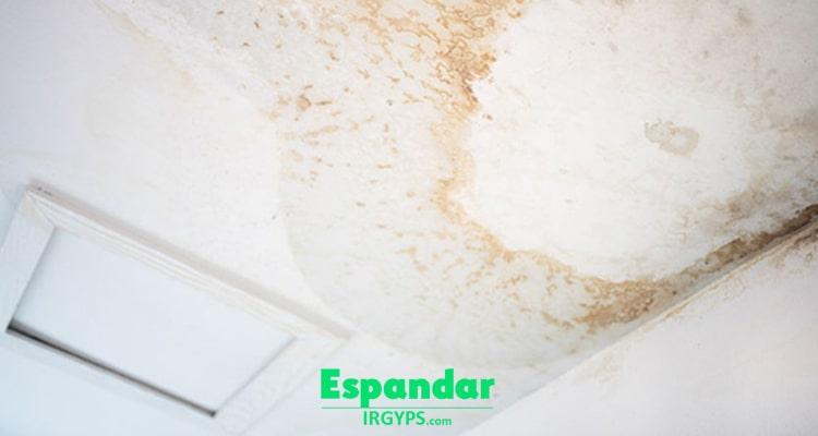 علت زرد شدن گچ سقف و دیوار