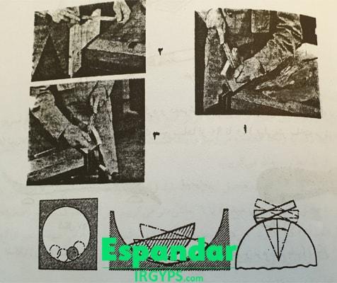 کشوزنی در گچبری ساختمانی ابزار اصول کشوزنی کاربرد انواع گچ خوش مایه تخته چوبی اره چوبساب نوکی سوهان قلم برگی سینه کفتری ریسه خرمایی گرده ماهی خودزن