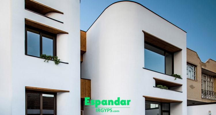 اجرای سیمان سفید در نمای ساختمان